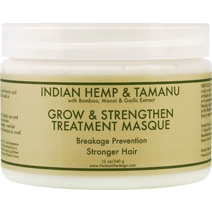 Nubian Heritage Indian Hemp Tamanu Grow Strengthen Treatment Masque